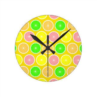 Citrus Round Clock