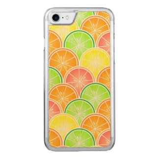 Citrus Scallop Pattern Carved iPhone 7 Case