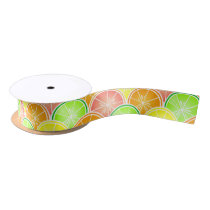 Citrus Scallop Pattern Satin Ribbon