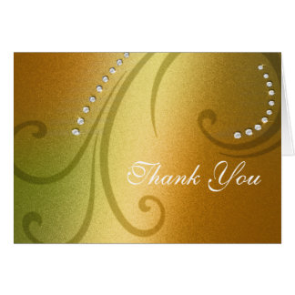 Citrus Shimmer and Crystal Thank You Card