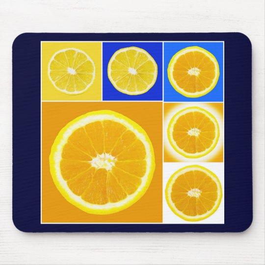 citrus slice mouse pad