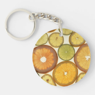 Citrus Slices Double-Sided Round Acrylic Keychain