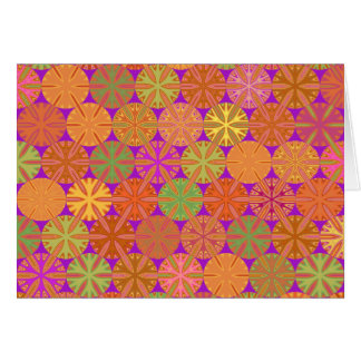 Citrus Slices Geometric on Purple Note Card