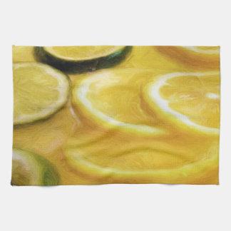 Citrus Slices Hand Towels