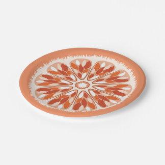 Citrus Slices Orange Paper Plate
