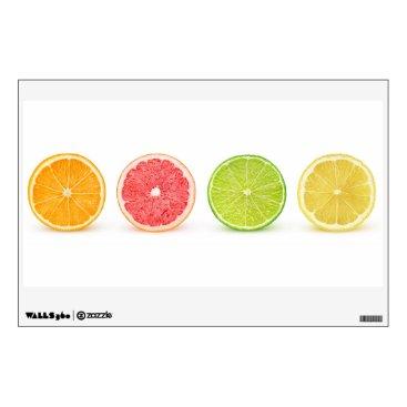 Art Themed Citrus slices wall sticker