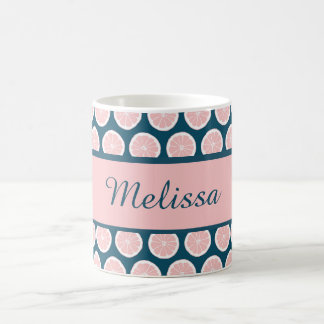 Citrus Slices with Personalized Nameplate Coffee Mug