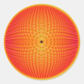 Citrus Sphere Round Sticker