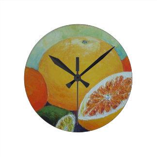 Citrus Splash Clock
