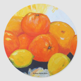 Citrus Splash II Classic Round Sticker