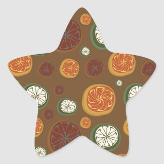 Citrus Star Sticker