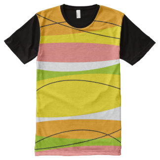 Citrus Stripe all over t-shirt horizontal