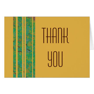 Citrus Stripe Thank You Note Card