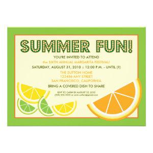 Citrus Summer Fun Cookout Invitation (green)