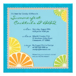 Citrus Summer Party Personalized Announcement