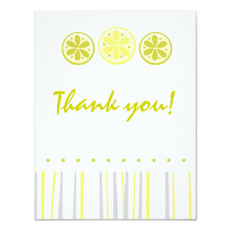 Citrus Thank You Note Card