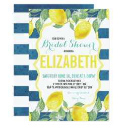 Citrus Themed Bridal Shower Invitation