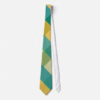 Citrus Twist Argyle Necktie