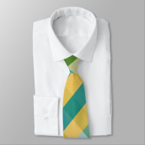 Citrus Twist Diagonal Plaid Tie