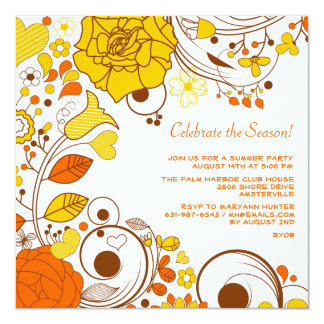 Citrus Twist Invitation