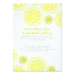 "Citrus Wedding Invitation with Lemons and Limes 5"" X 7"" Invitation Card"