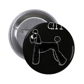 city 2 inch round button
