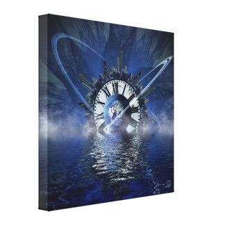 city-628648 SCIENCE-FICTION FANTASY WARPED TIME CL Canvas Print