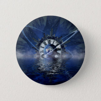city-628648 SCIENCE-FICTION FANTASY WARPED TIME CL Pinback Button
