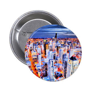 City a Life Pinback Buttons