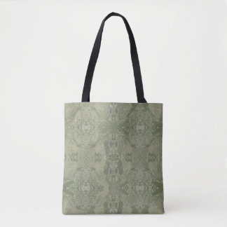 City Abstract Design in Olive Green Tote Bag