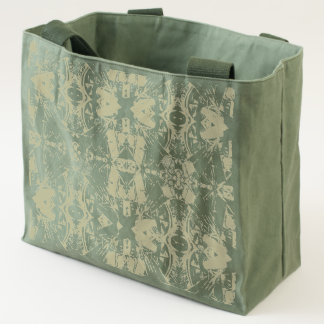 City Abstract in Olive Tote