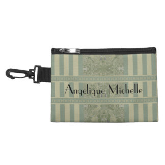 City Abstract with Coordinated Stripes in Olive 04 Accessory Bag