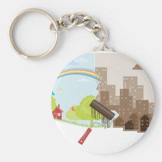 City against Nature Key Chain