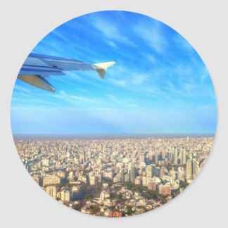 City airport Jorge Newbery AEP Classic Round Sticker