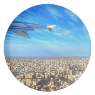 City airport Jorge Newbery AEP Melamine Plate