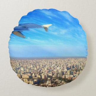 City airport Jorge Newbery AEP Round Pillow