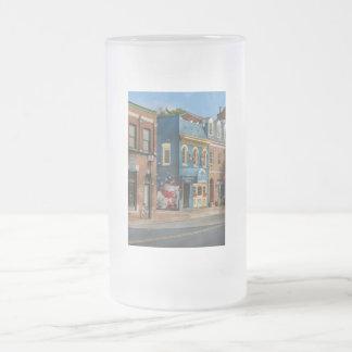 City - Alexandria, VA - King Street Blues Frosted Glass Beer Mug
