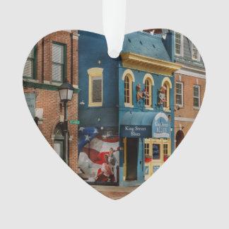City - Alexandria, VA - King Street Blues Ornament