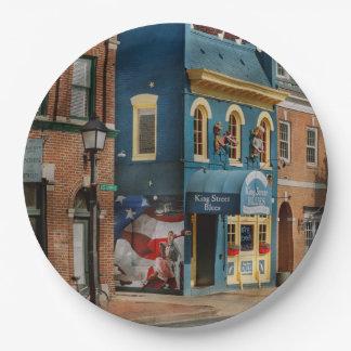 City - Alexandria, VA - King Street Blues Paper Plate