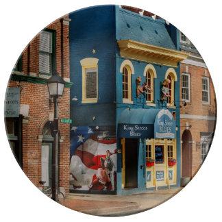 City - Alexandria, VA - King Street Blues Plate
