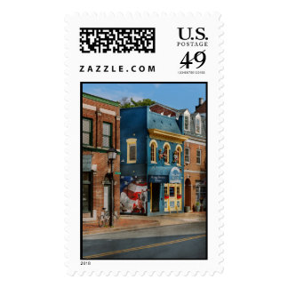 City - Alexandria, VA - King Street Blues Postage Stamps