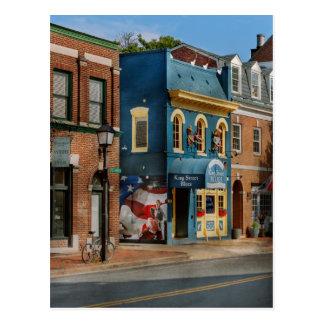 City - Alexandria, VA - King Street Blues Postcard