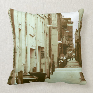 City Alleyway Throw Pillow