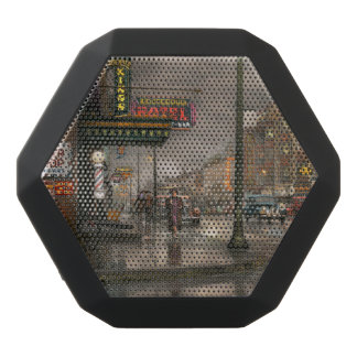 City - Amsterdam NY -  Call 666 for Taxi 1941 Black Bluetooth Speaker