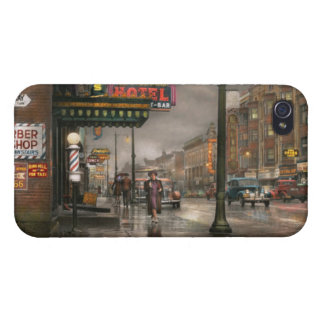 City - Amsterdam NY -  Call 666 for Taxi 1941 iPhone 4 Cover