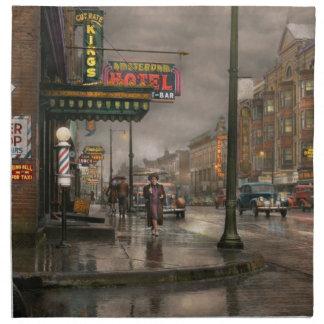 City - Amsterdam NY -  Call 666 for Taxi 1941 Napkin