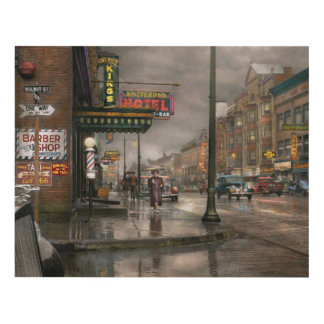 City - Amsterdam NY -  Call 666 for Taxi 1941 Panel Wall Art