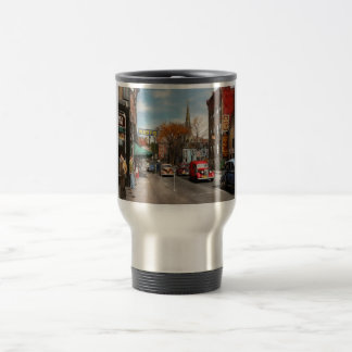 City - Amsterdam NY - Downtown Amsterdam 1941 Travel Mug