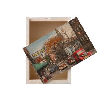 City - Amsterdam NY - Downtown Amsterdam 1941 Wooden Keepsake Box