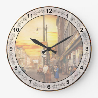 City - Amsterdam NY - The lost city 1941 Large Clock